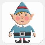 Cute Retro Christmas Elf Sticker