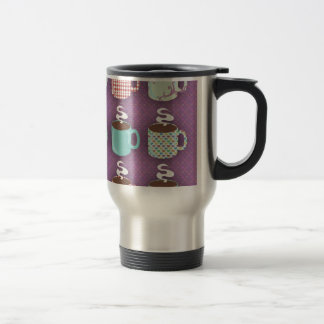 Cute Retro Coffeetime Travel Mug