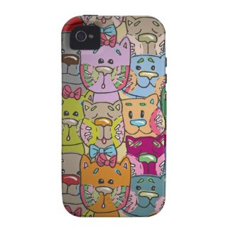 Cute Retro Colorful Animals Company iPhone 4 Case-Mate iPhone 4 Case