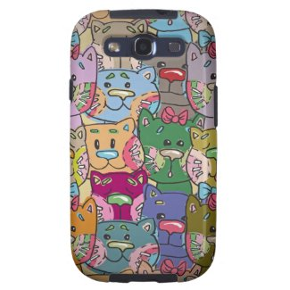 Cute Retro Colorful Animals Company Samsung S3 Samsung Galaxy SIII Cases