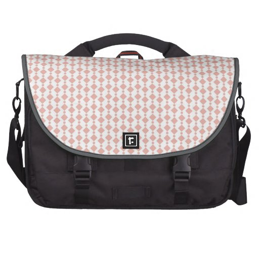 Cute Retro Coral Pink, Salmon Pattern Commuter Bags