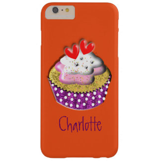 Cute Retro Cup Cake Personalized Barely There iPhone 6 Plus Case