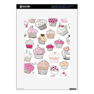 Cute retro cupcake bakery cherry pattern ipad iPad 3 decals
