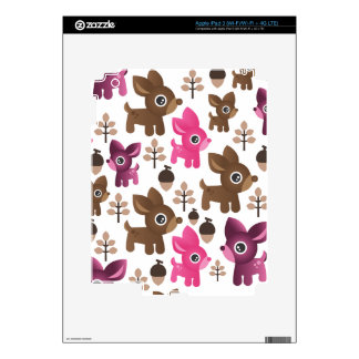 Cute retro deer animal pink pattern ipad iPad 3 skin