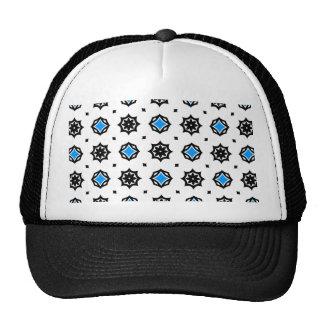 Cute retro diamonds and hearts pattern trucker hat