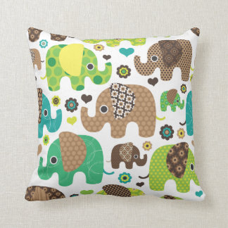 Cute retro elephant india pattern pillow case