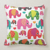 Cute retro elephant pattern india design pillow
