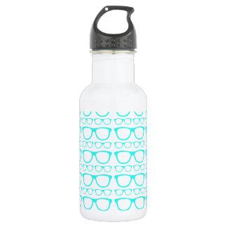 Cute Retro Eyeglass Hipster 18oz Water Bottle