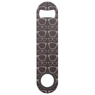 Cute Retro Eyeglass Hipster Bar Key