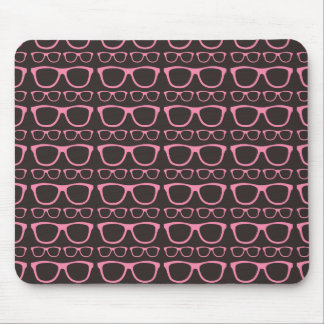 Cute Retro Eyeglass Hipster Mouse Pad