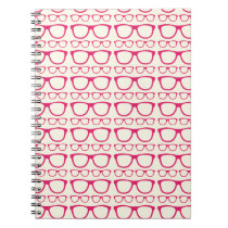 Cute Retro Eyeglass Hipster Notebook