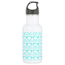 Cute Retro Eyeglass Hipster Stainless Steel Water Bottle
