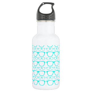 Cute Retro Eyeglass Hipster Stainless Steel Water Bottle