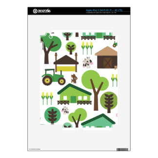 Cute retro farm animal cow pattern ipad iPad 3 skin