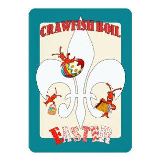 Cute Retro Feel Easter Crawfish Boil Card