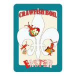 Cute Retro Feel Easter Crawfish Boil Custom Announcement