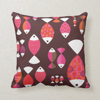 Cute retro fish food kitchen pattern pillow case