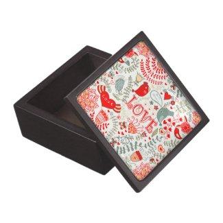 Cute Retro Floral Valentines Design Premium Gift Boxes