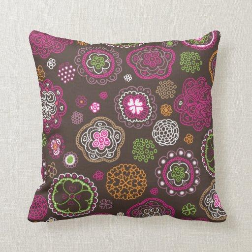 Cute retro flower blossom pattern pillow case