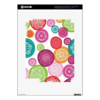 Cute retro flower circle pattern ipad iPad 3 decals