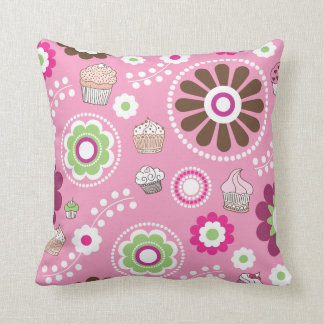 Cute retro flower cupcake pattern pillow case