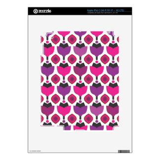 Cute retro flower illustration pattern ipad skins for iPad 3