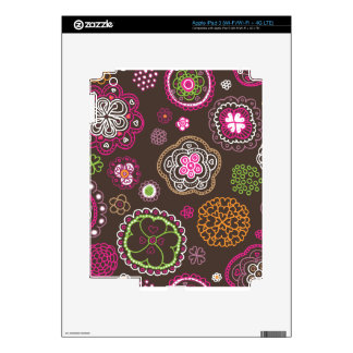 Cute retro flowers summer blossom pattern ipad skins for iPad 3