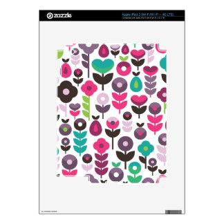 Cute retro fruit flower apple pattern ipad iPad 3 skin