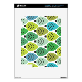 Cute retro green leaf pattern ipad iPad 3 decal