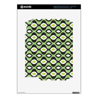 Cute retro green mod seventies pattern ipad skin for iPad 3