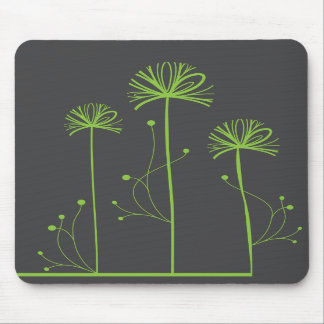 Cute Retro Green Spring Trees Mousepads