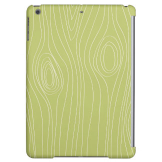Cute Retro Green Wood Grain pattern iPad Air Covers