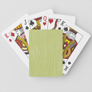 Cute Retro Green Wood Grain pattern Card Decks