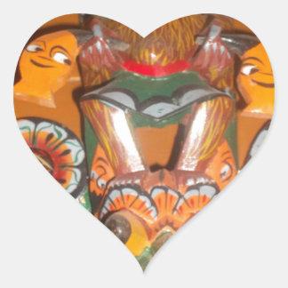 Cute Retro Halloween Bash Hakuna Matata Party Gift Heart Sticker