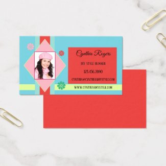 Cute Retro Hobby Photo Blogger Business Card