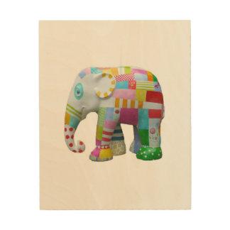 Cute retro kids elephant retro toy whimsical wood wall art