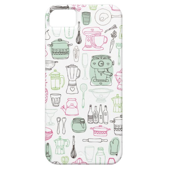 Cute retro kitchen cooking iphone case