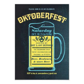 Cute Retro Oktoberfest Invitations   Chalkboard