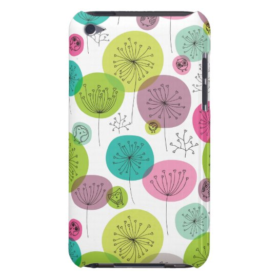 Cute retro owl and tree pattern design iPod touch case