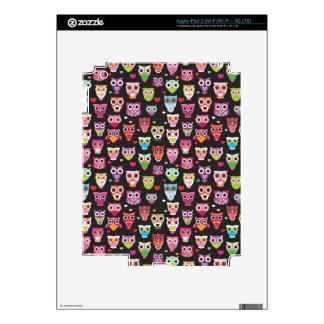 Cute retro owl bird pattern ipad iPad 3 decal