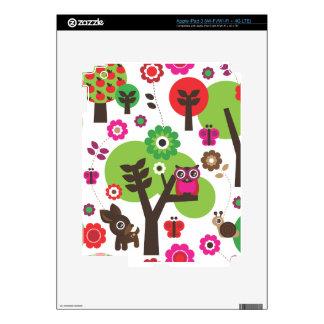 Cute retro owl bird tree pattern ipad iPad 3 skin