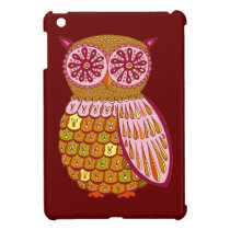 Cute Retro Owl iPad Mini Case