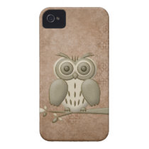 Cute Retro Owl iPhone 4/4S Case