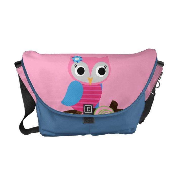 Cute retro owl Messenger Bag