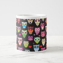 Cute retro owl mug