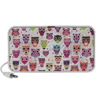 Cute retro owl pattern doodle speaker doodle