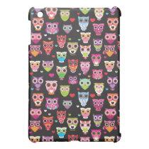 Cute retro owl pattern illustrated ipad mini case