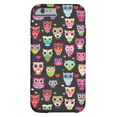Cute retro owl pattern illustrated iPhone 6 case iPhone 6 Case