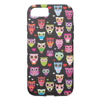 Cute retro owl pattern illustrated iPhone 7 case
