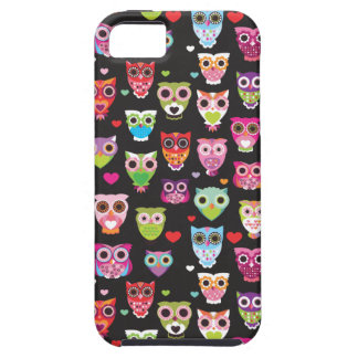 Cute retro owl pattern illustrated iphone case iPhone 5 cover